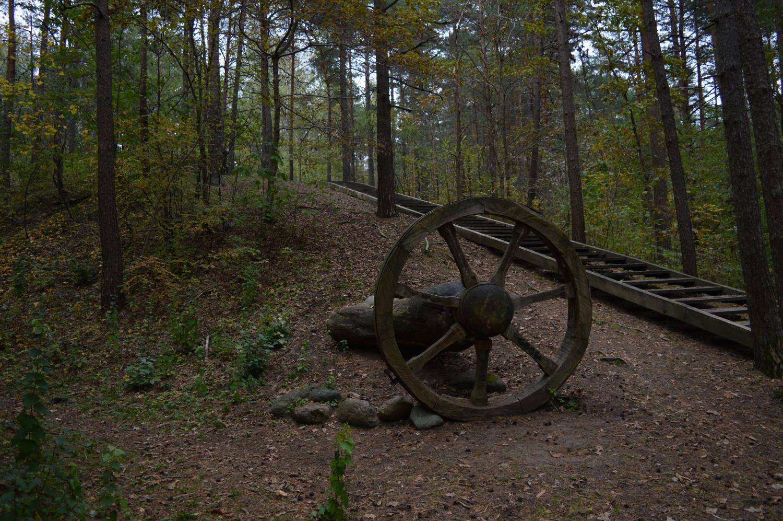 Skulptūra pasakų parke ratas