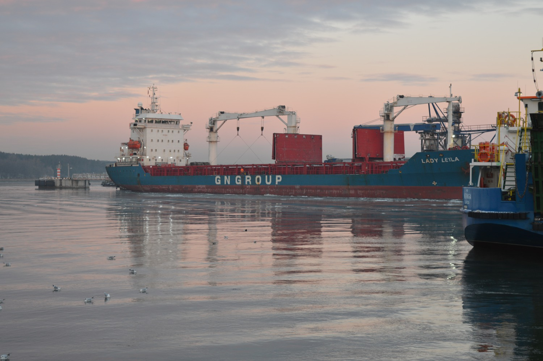 Laivas Klaipėdos uoste