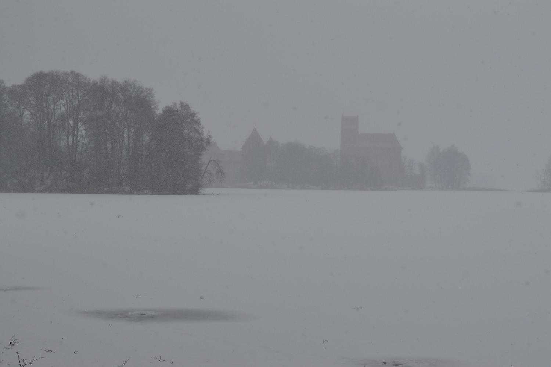 Trakų pilis iš pietrytinio kampo