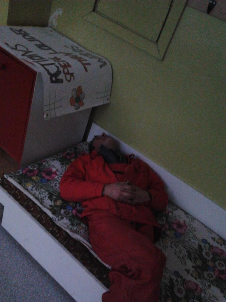 Pavargęs darbininkas