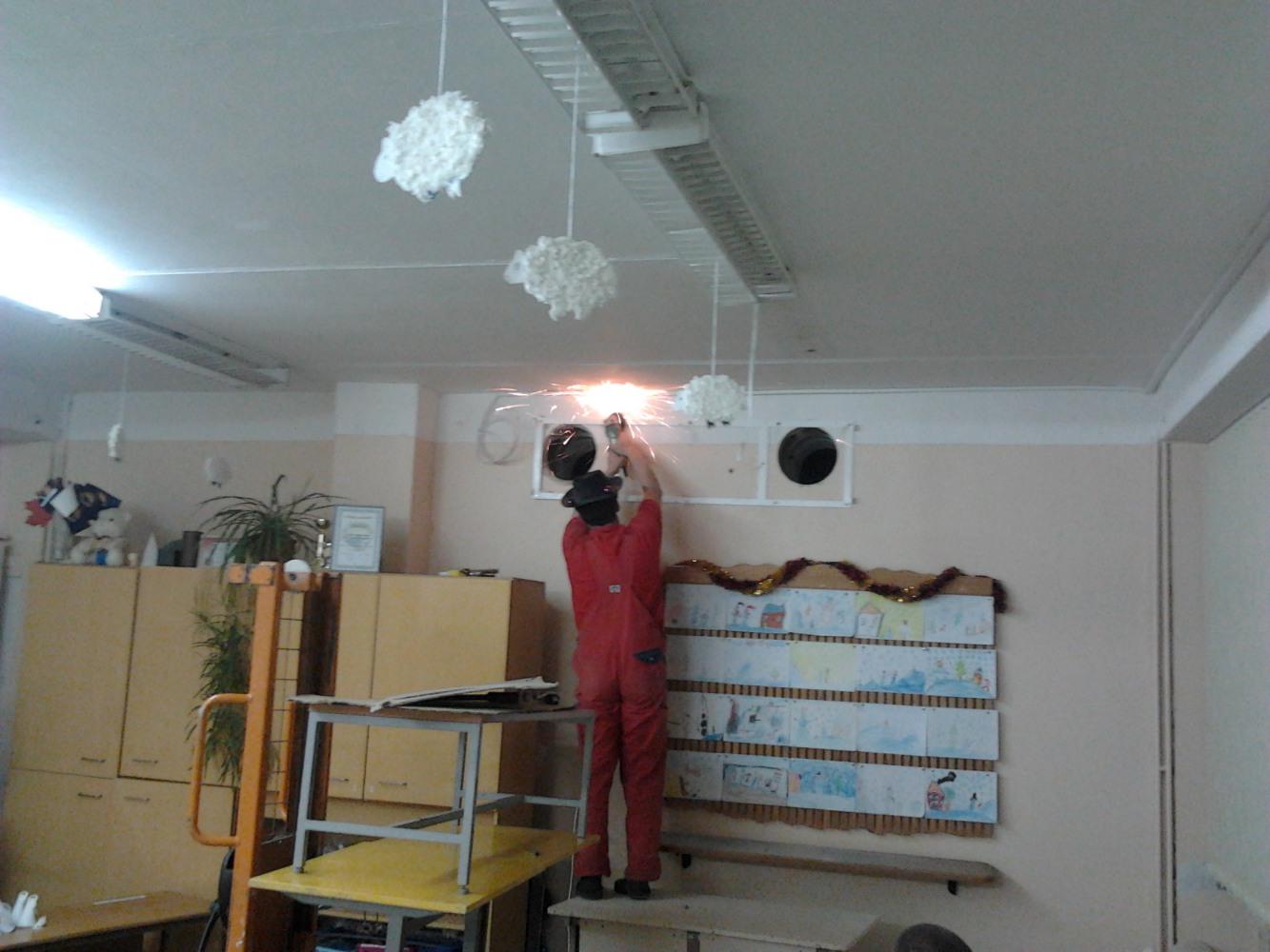 Vyksta statybos darbai