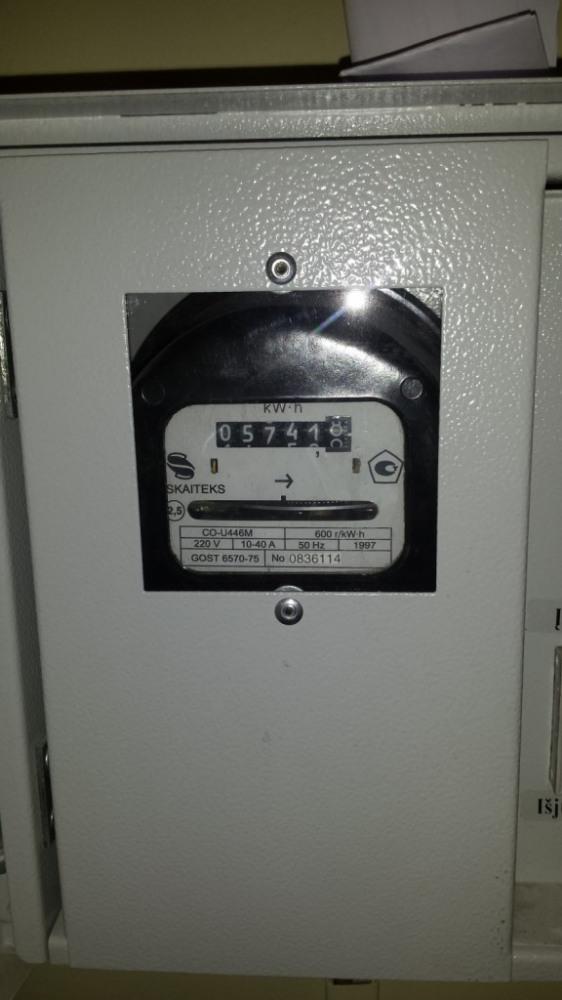 Mechaninis elektros skaitliukas