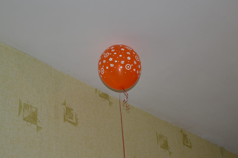 Helio balionas raudonas