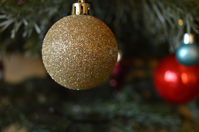 Kalėdų žaisliukas iš arti