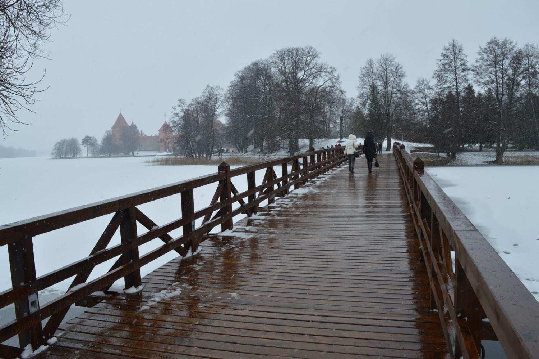 Pėsčiųjų tiltas į Trakų pilį