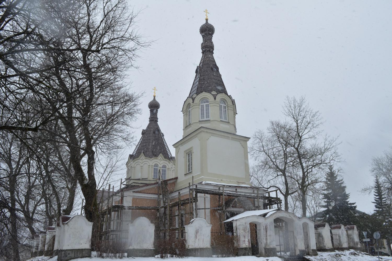 Restauruojama Trakuose bažnyčia