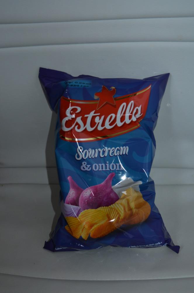 Estrela bulvių traškučiai su svogūnais