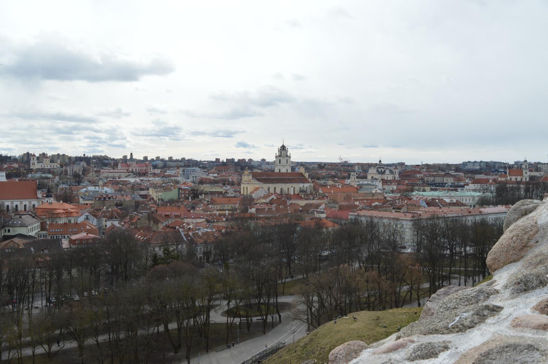 Vilniaus senamiestis su raudonais stogais