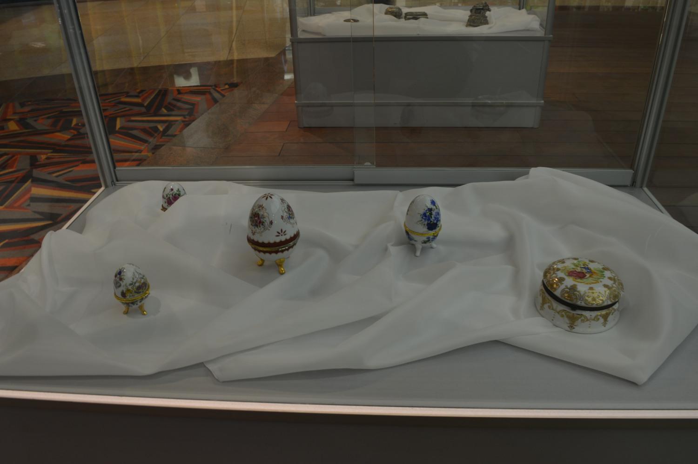 Papuošalų dėžutė kiaušinio formos