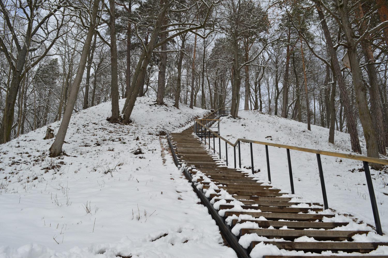 Laiptai į Verkių rūmų kalną