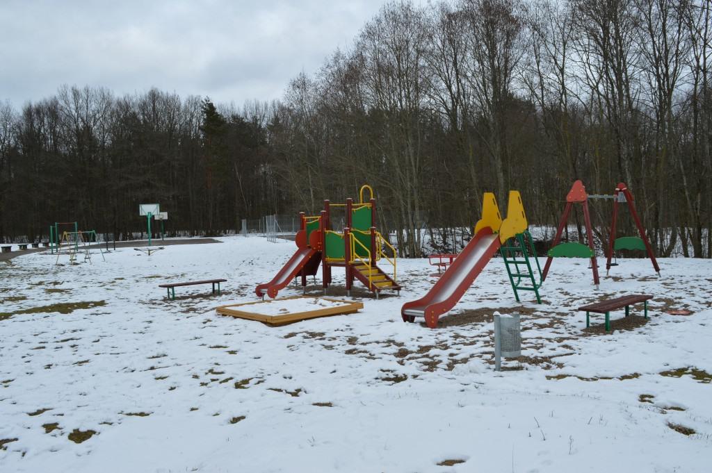Vaikų žaidimo didelė aikštelė