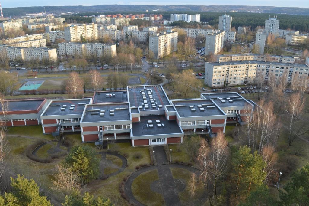 Minties gimnazijos stogas