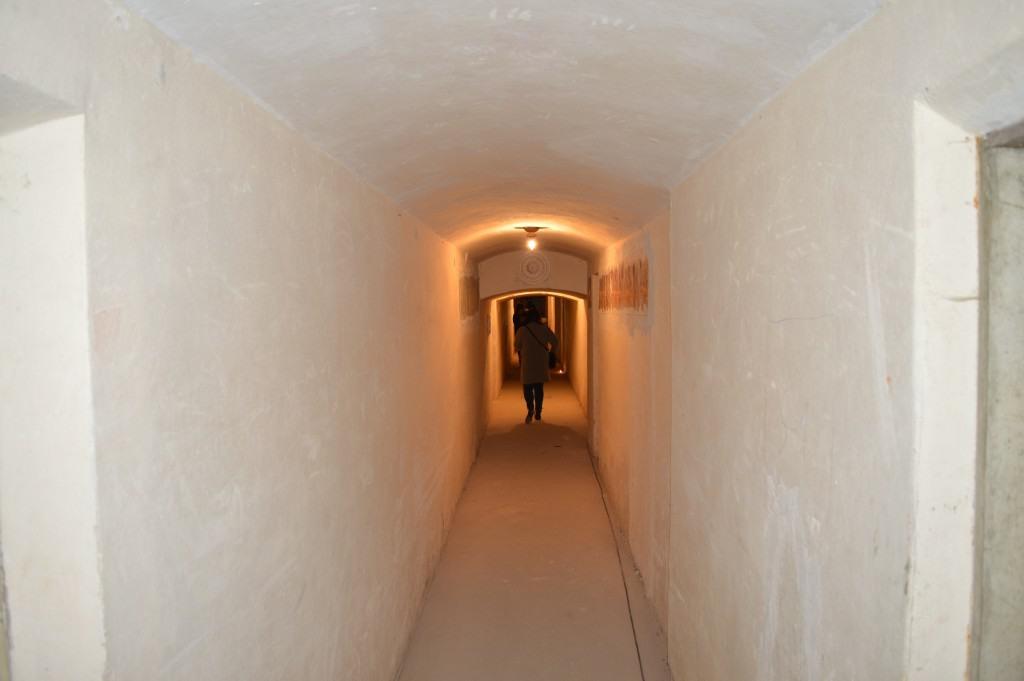 Požeminės patalpos koridorius