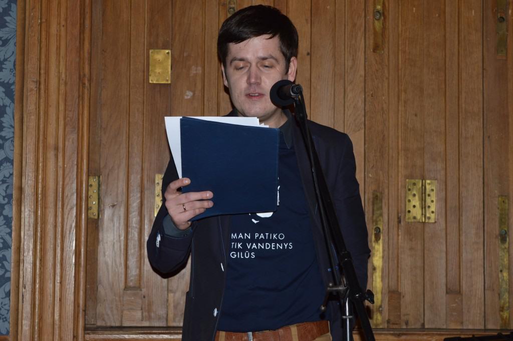 Vienas iš daugelio skaitytojų Marijus Gailius, kuris vilki ir savitus marškinėlius