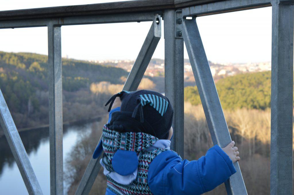 Vaikas žiūrintis į  gamtą