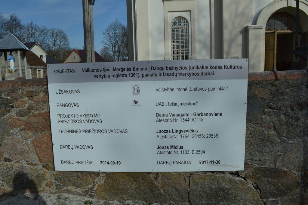 bažnyčios restauravimas
