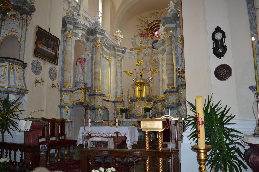 Liškiavos bažnyčia iš vidaus