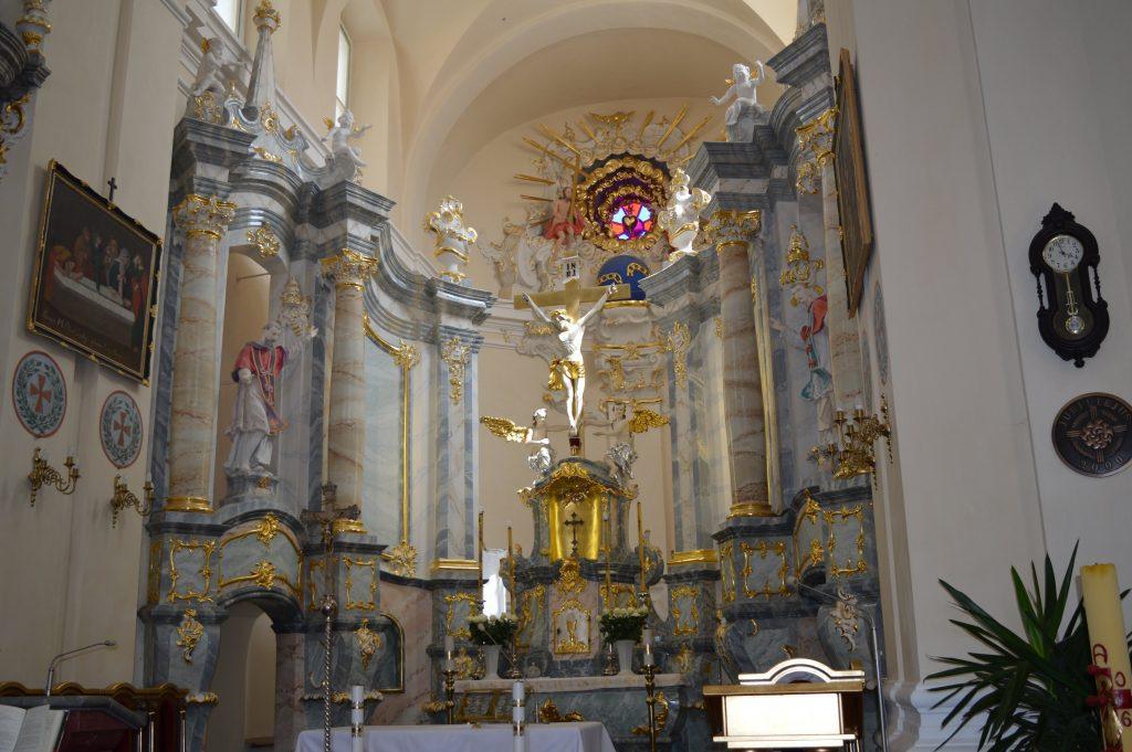 pagrindinio altoriaus bendras vaizdas