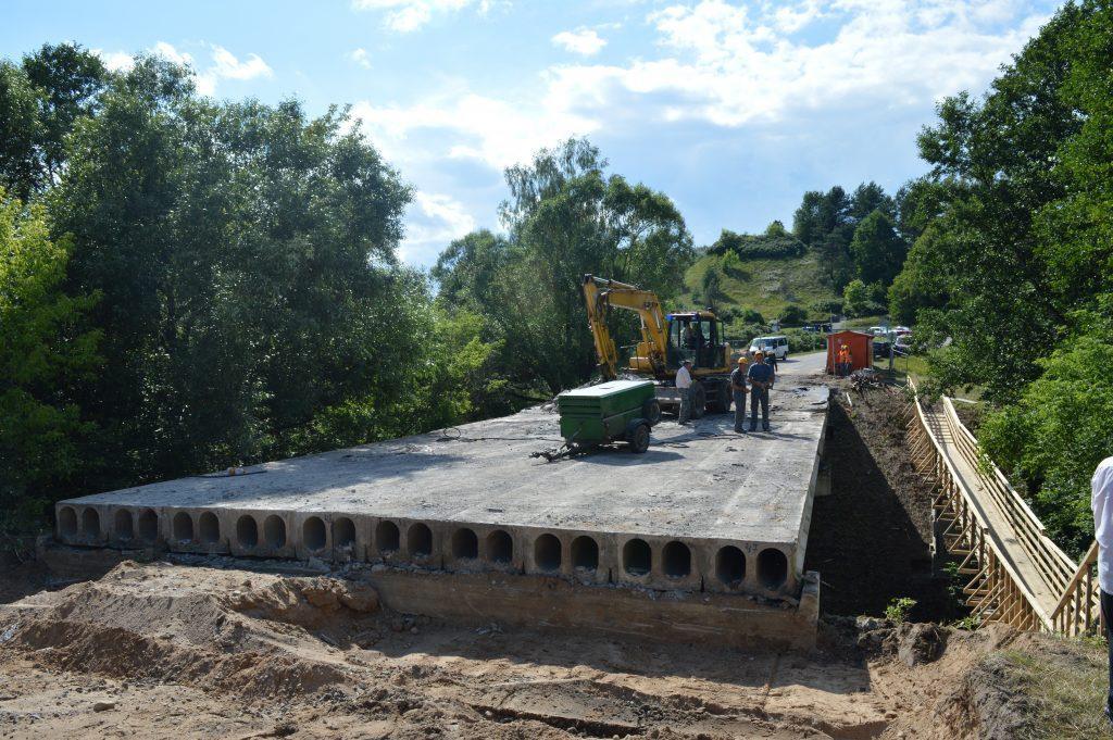 Tilto remontas Liškiavoje