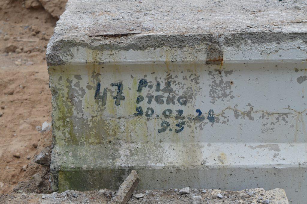 Liškiavos tilto perdangos numeris