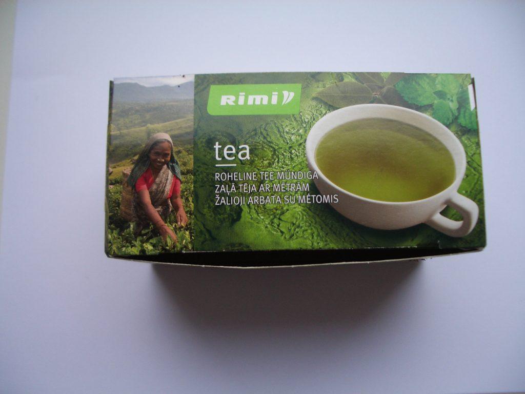 Žalia arbata su mėtomis