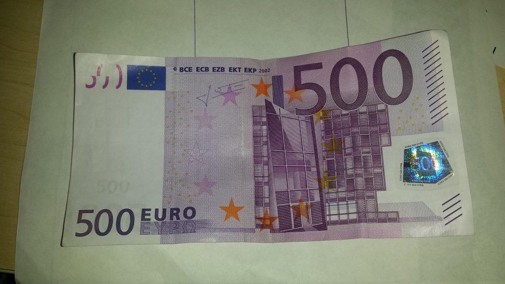 500 eurų kupiūra