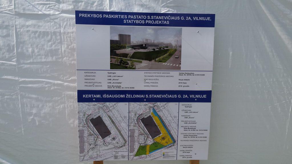 Lidl statybos projektas Fabijoniškėse