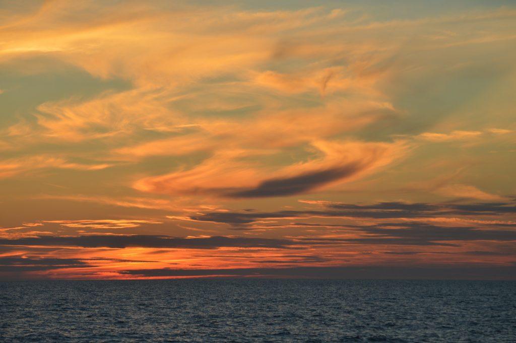 Saulėlydžio debesys magiški