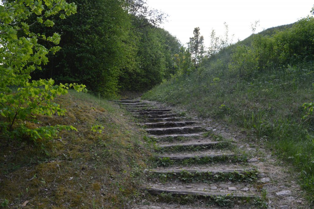 Laiptai į Liškiavos piliakalnį