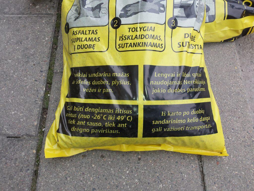 šlapias asfaltas instrukcija
