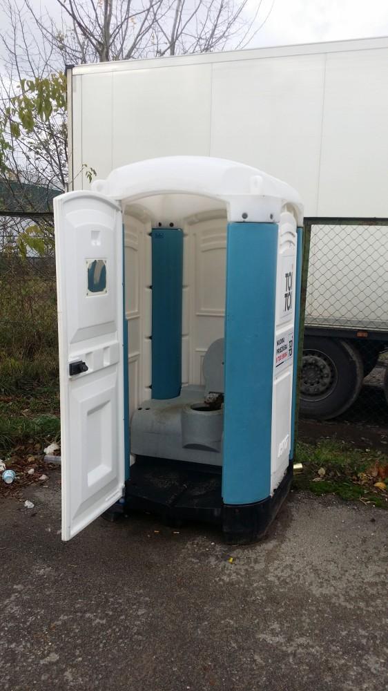 Apšiktas bio tualetas
