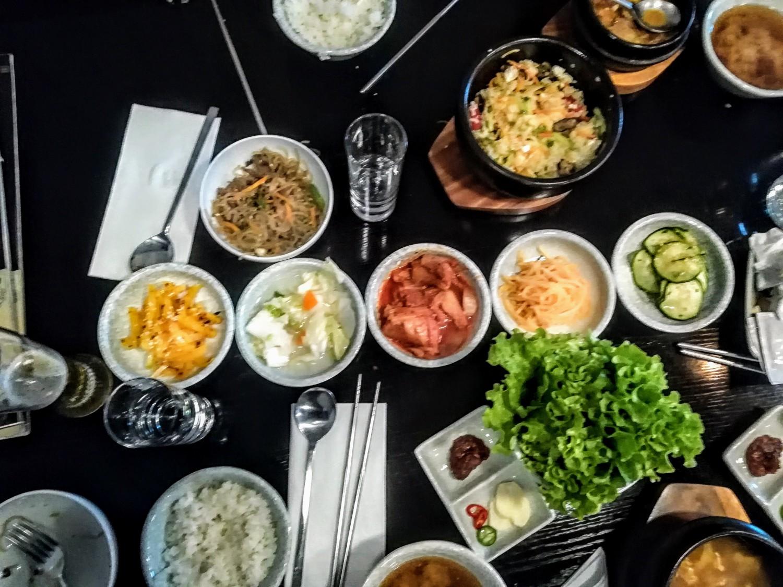 Korejietiškas maistas restorane